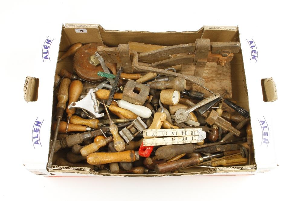 Lot 46 - A box of tools G