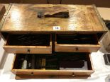 Lot 19 - An engineers tool box with tools G