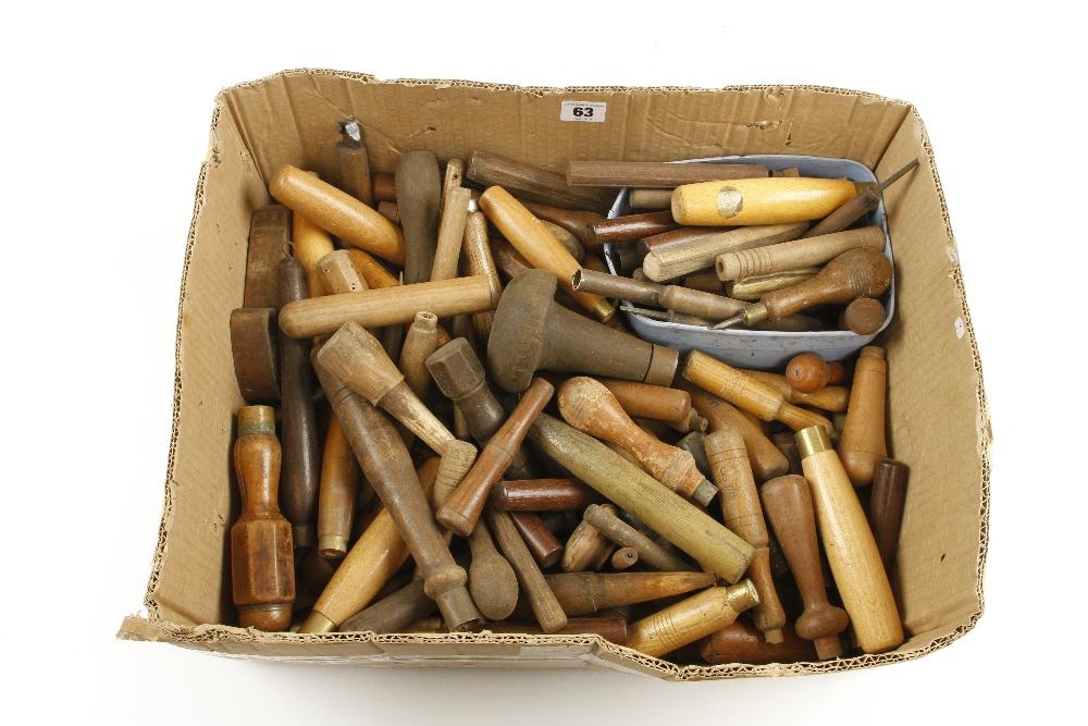 Lot 63 - 100 chisel handles,