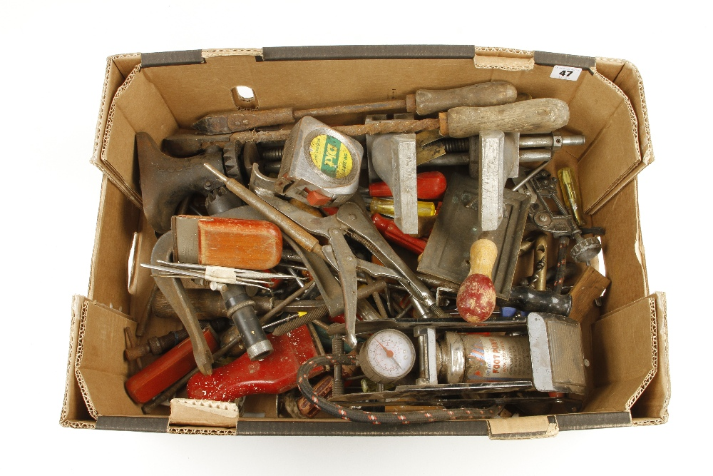 Lot 47 - A box of tools G