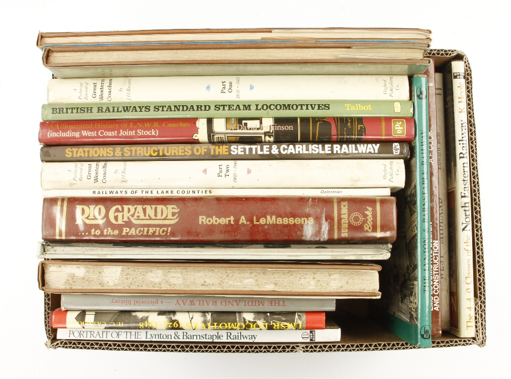 Lot 50 - 18 books on railways and stations G+