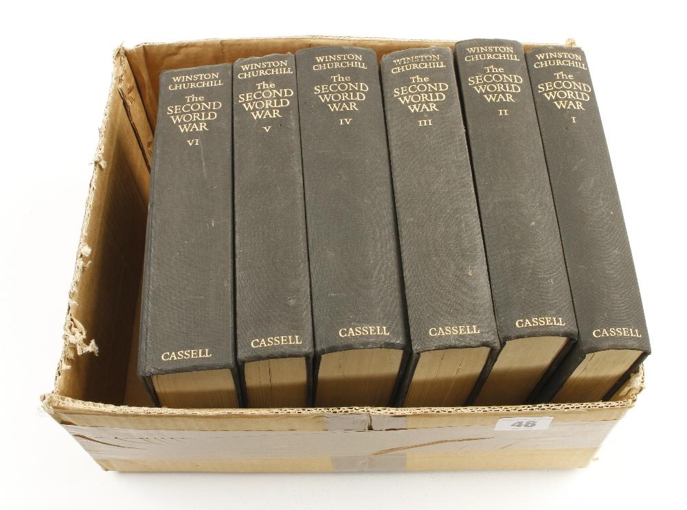 Lot 48 - Winston S Churchill: The Second World War 6 vols h/b G