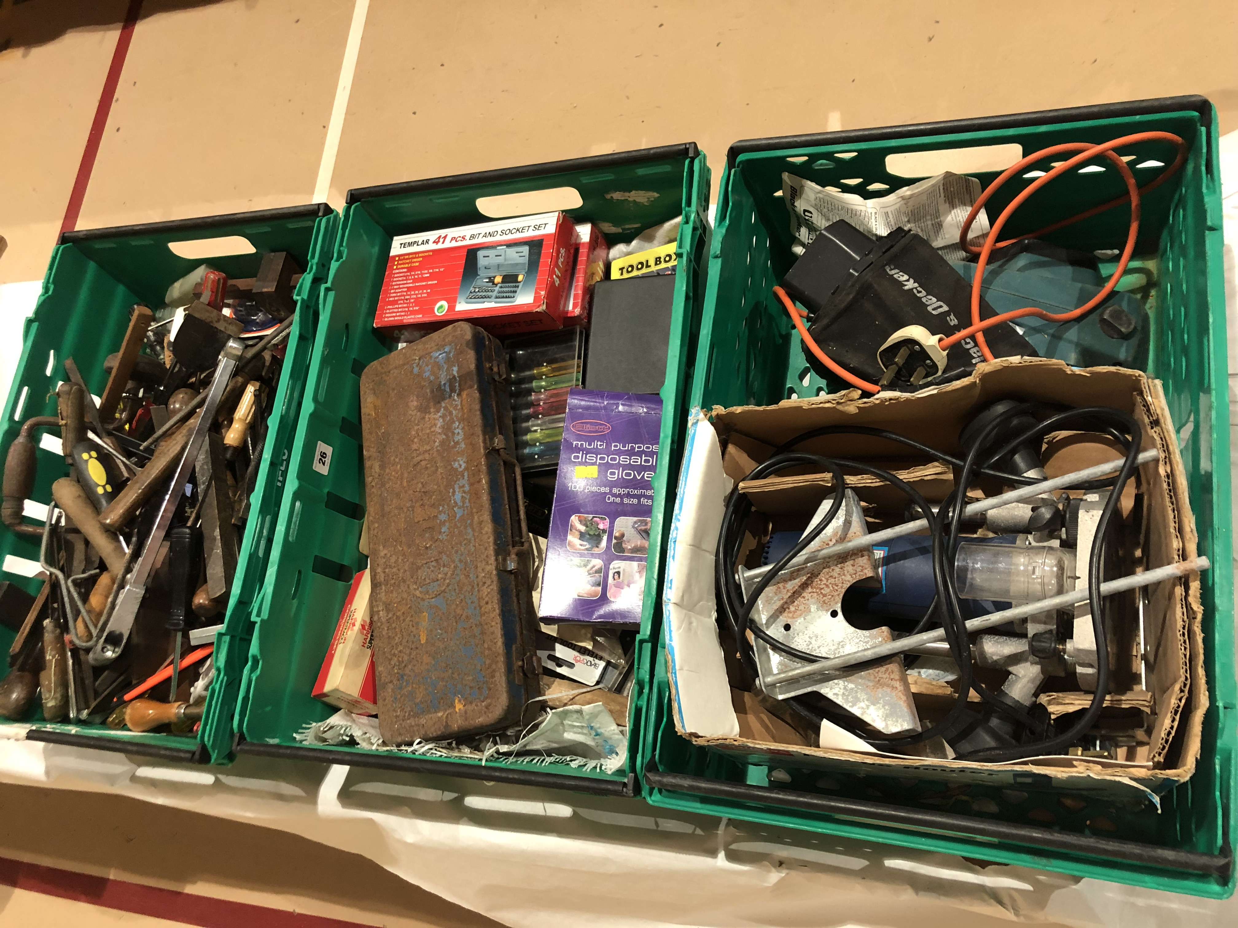 Lot 26 - Three boxes of tools G