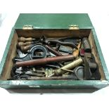 Lot 34 - A box of small tools G