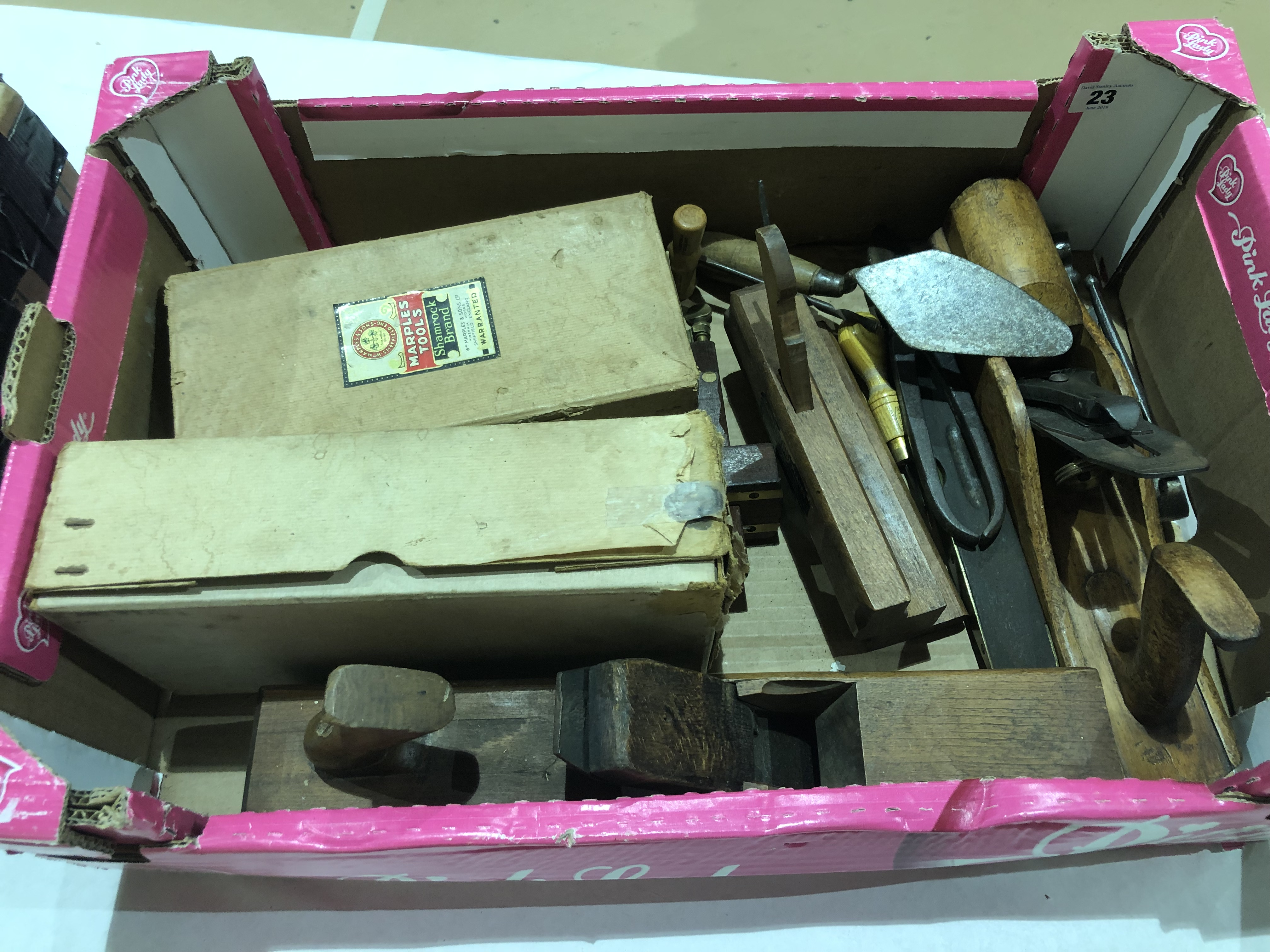 Lot 23 - 13 various tools all by MARPLES G+