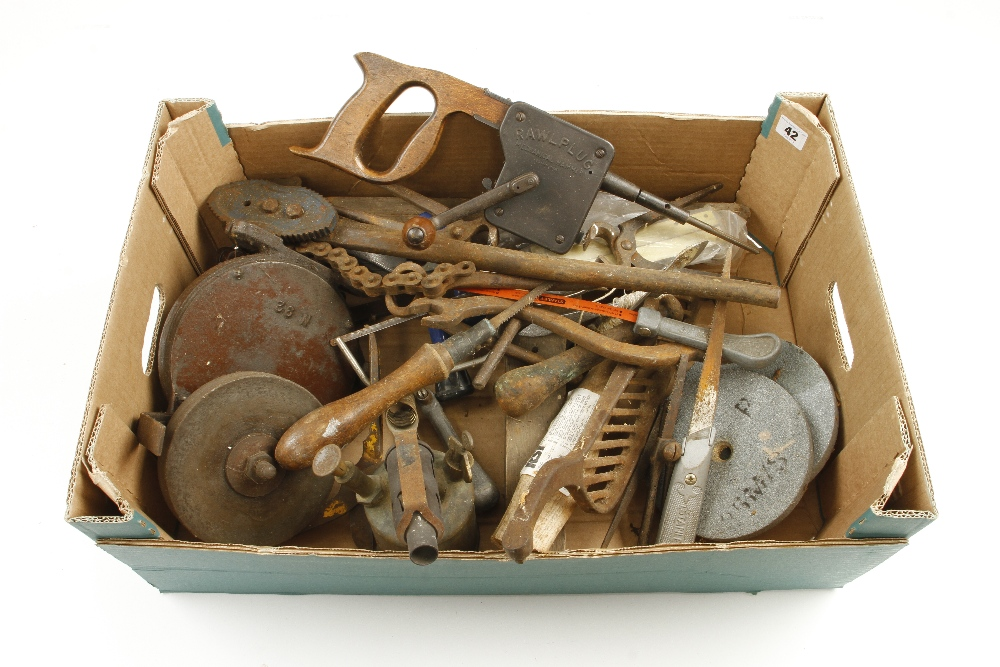 Lot 42 - A box of tools G