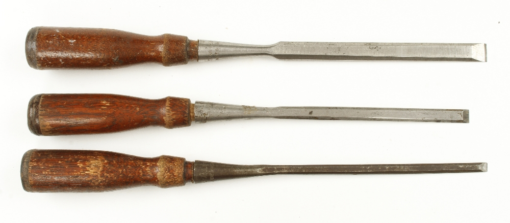 Lot 53 - Three socket chisels by STANLEY G+