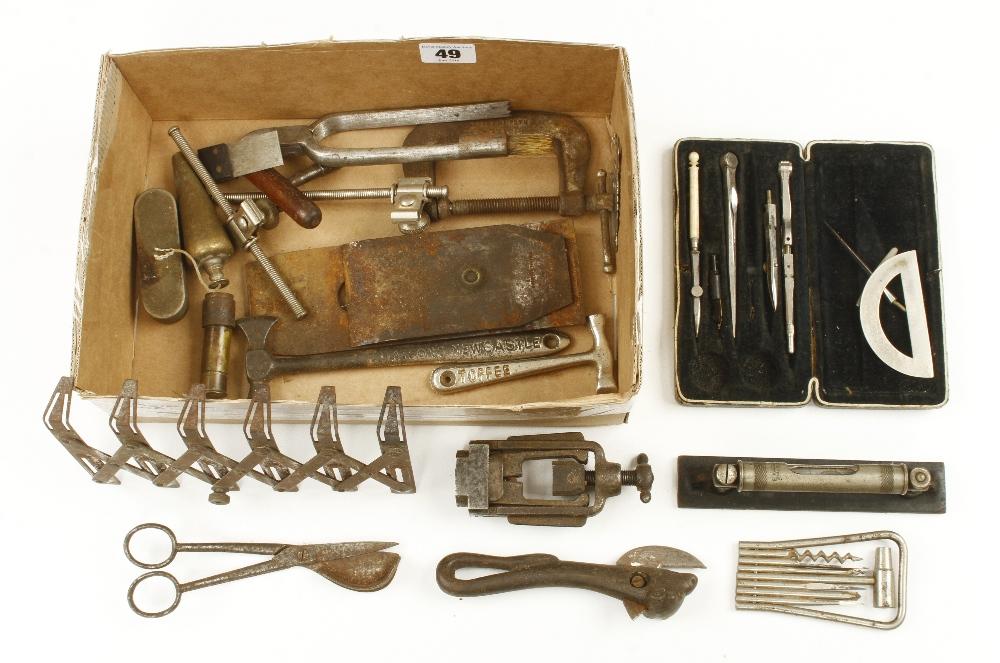 Lot 49 - A box of tools G