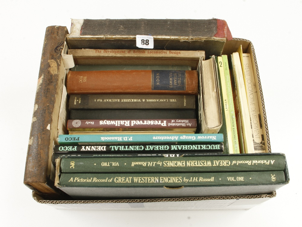 Lot 88 - 20 railway etc books G