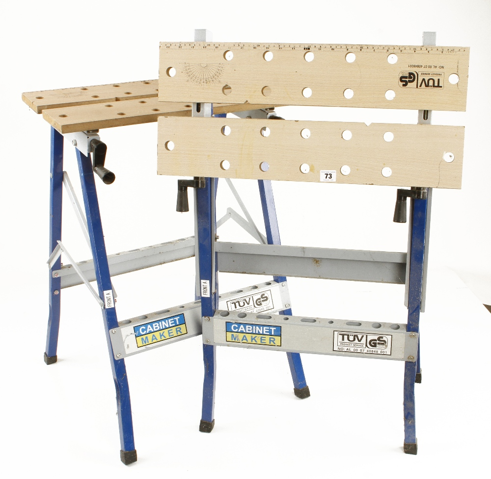 Lot 73 - Two folding workmates by GS G