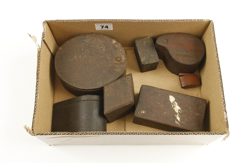 Lot 74 - Seven grease boxes G