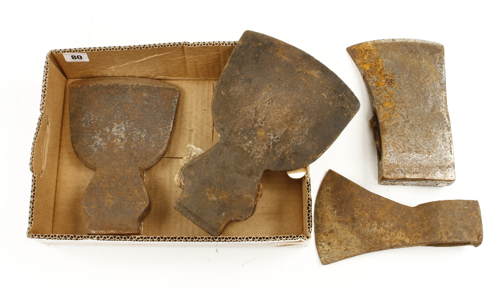Lot 80 - Four axe heads G