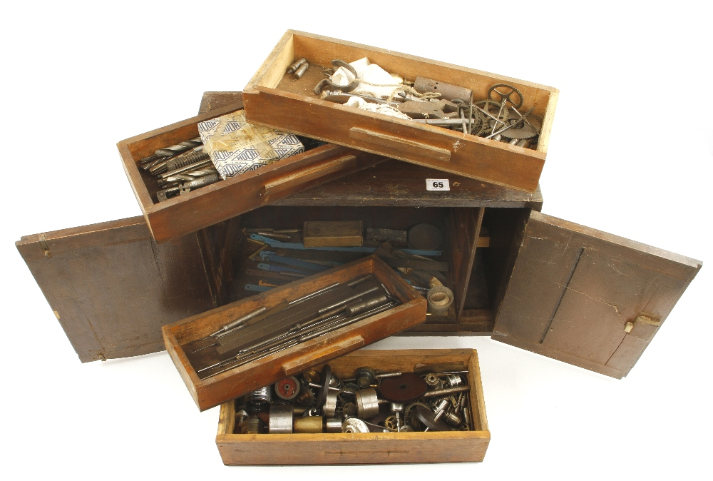 Lot 65 - A four drawer chest of engineers tools G