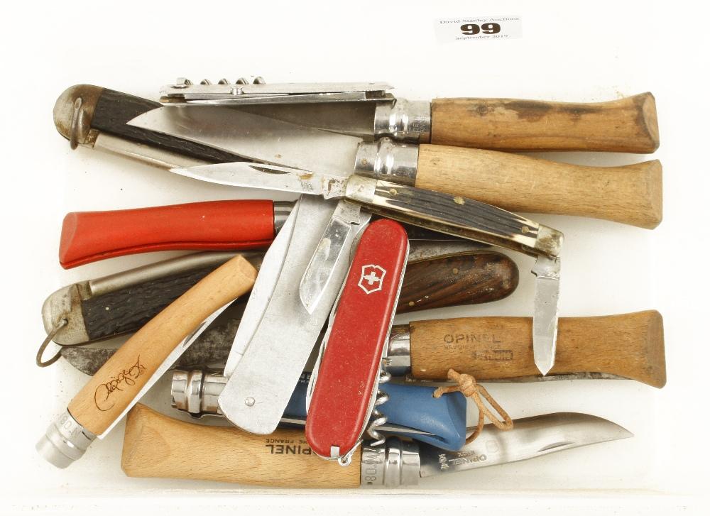 Lot 99 - 14 penknives G