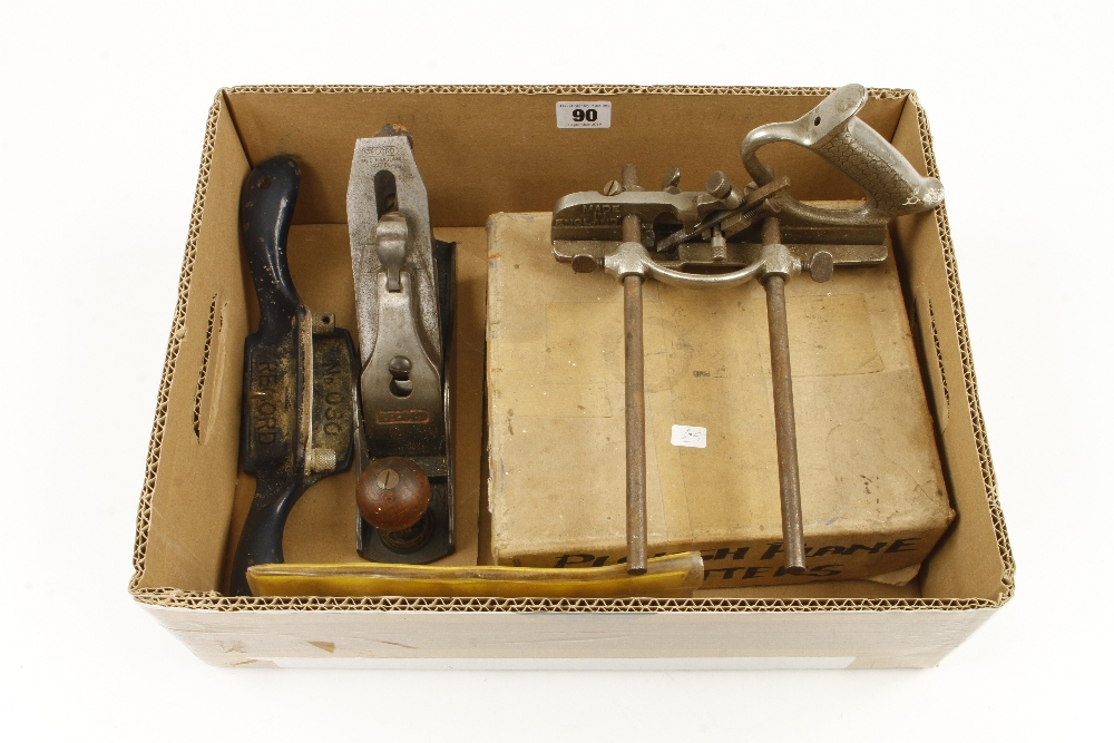 Lot 90 - Two RECORD ploughs,