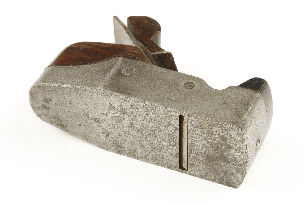 Lot 63 - An iron smoother by SLATER with rosewood infill and wedge,