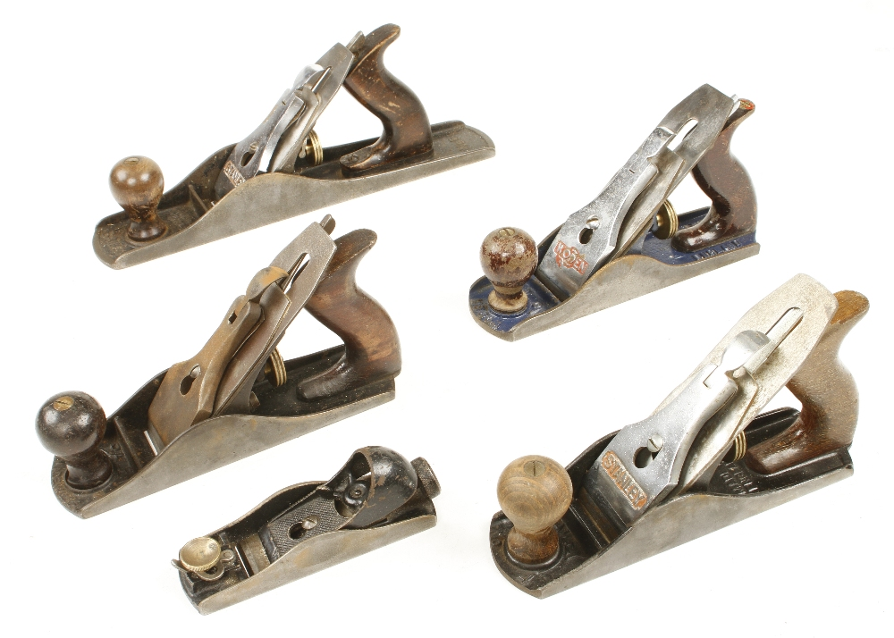 Lot 86 - A STANLEY No 5, two No 4's,