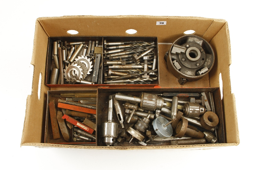 Lot 70 - A lathe chuck and quantity of engineers tools G