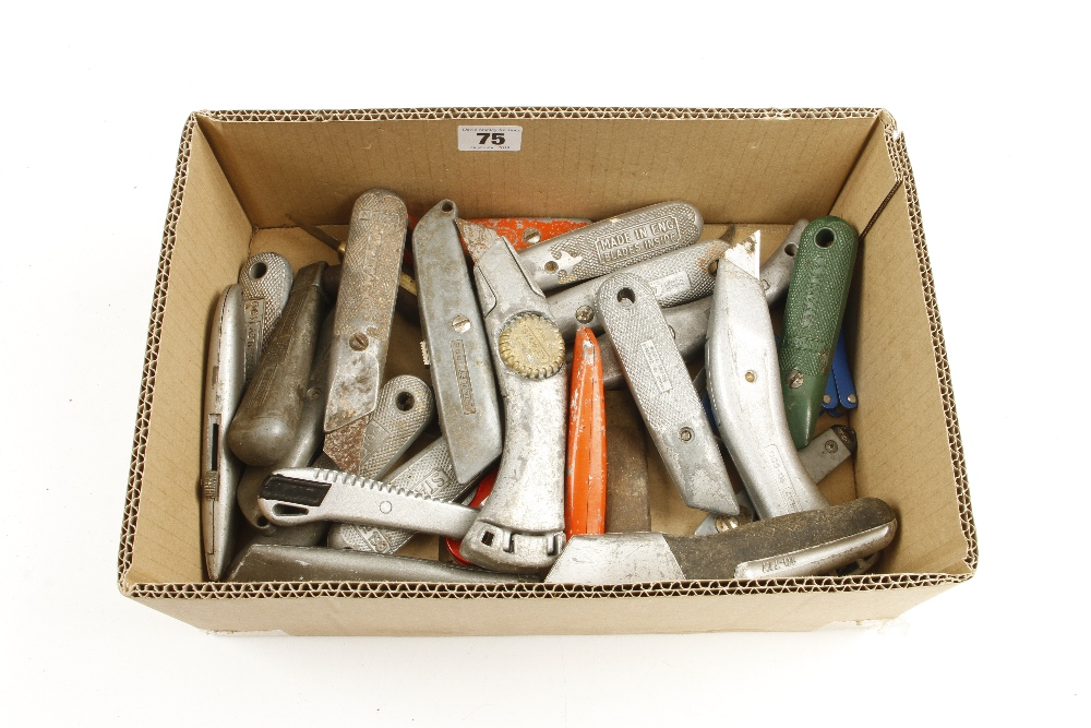 Lot 75 - A quantity of Stanley and other knives G