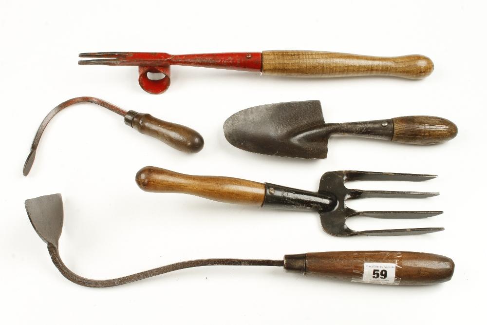Lot 59 - Five vintage garden tools G
