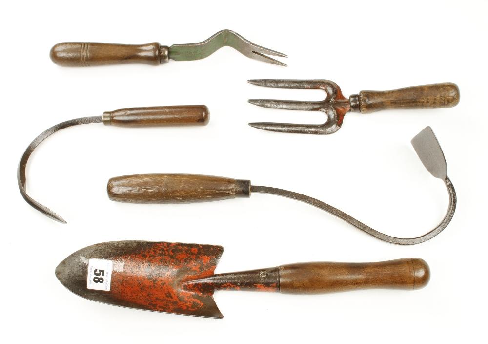 Lot 58 - Five vintage garden tools G