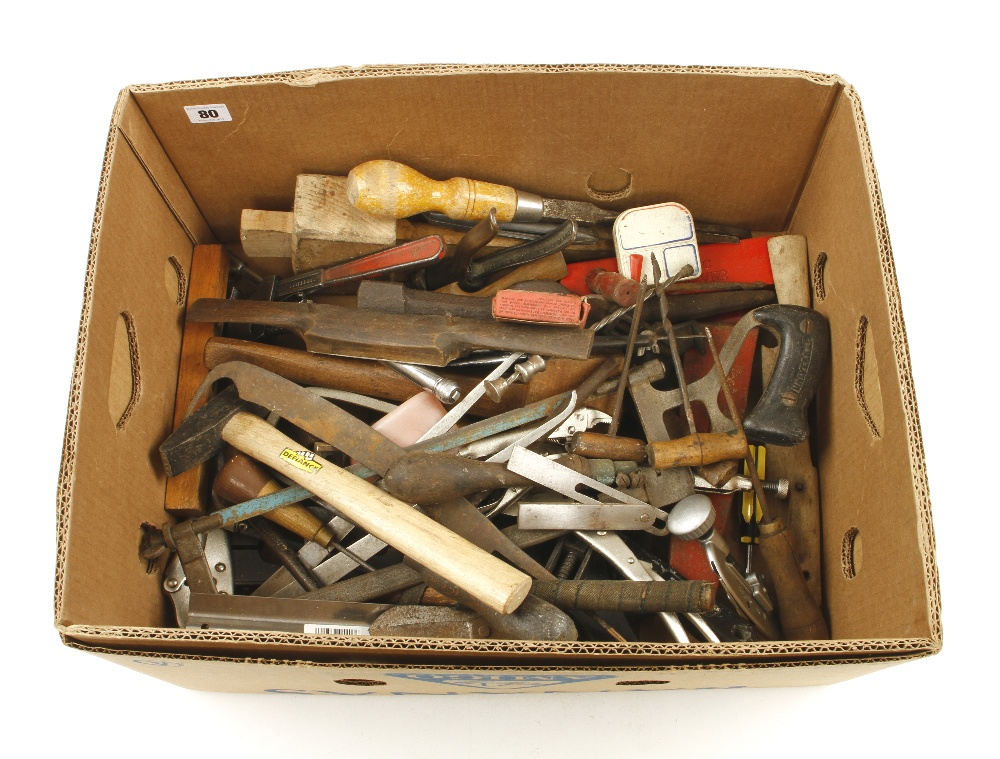 Lot 80 - A box of tools G