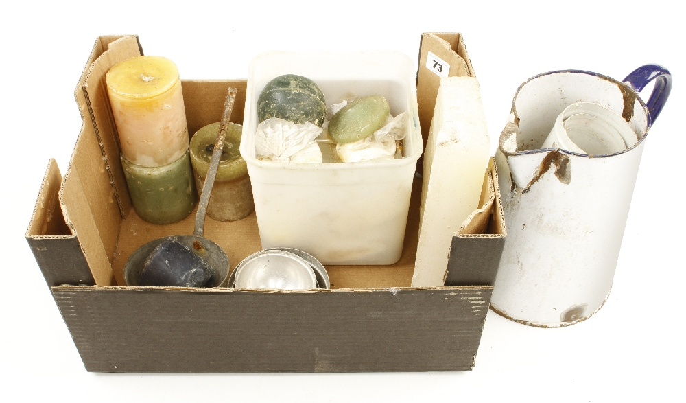 Lot 73 - Various candle moulds,
