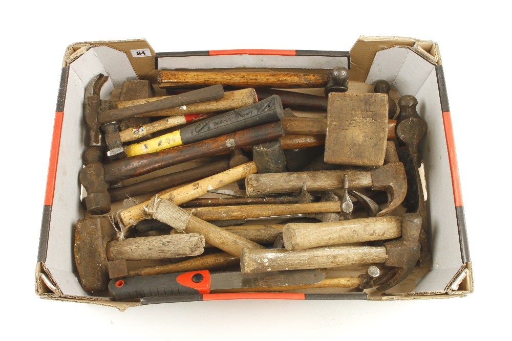 Lot 84 - A box of hammers and mallets G