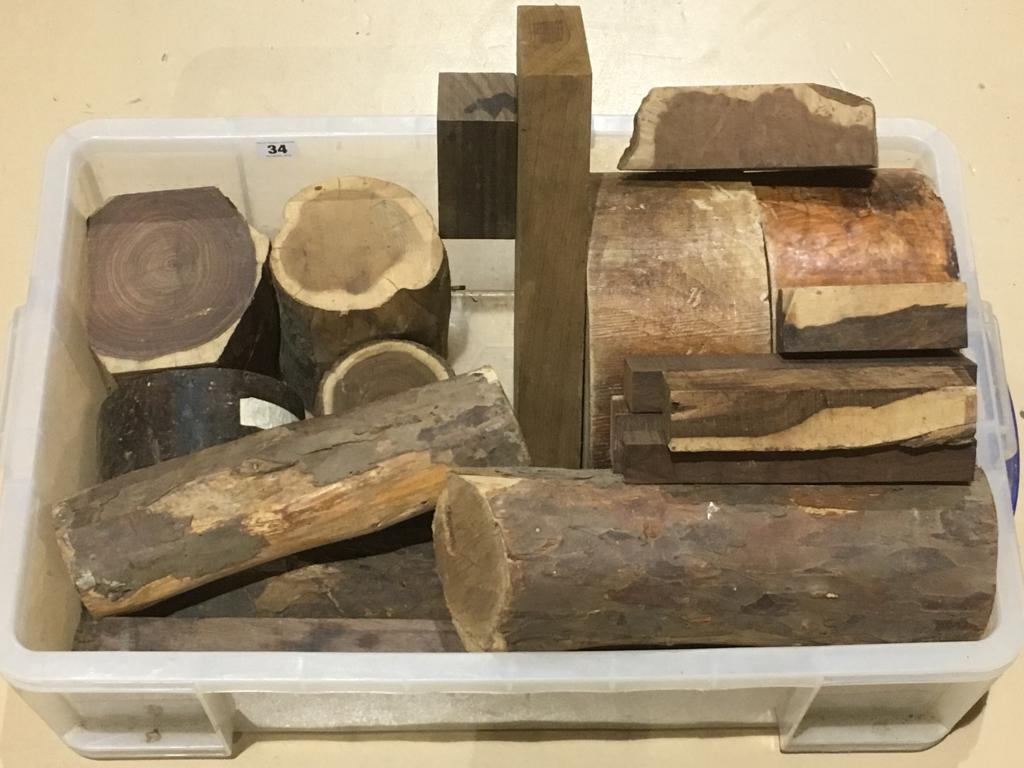Lot 34 - A quantity of turning blanks G