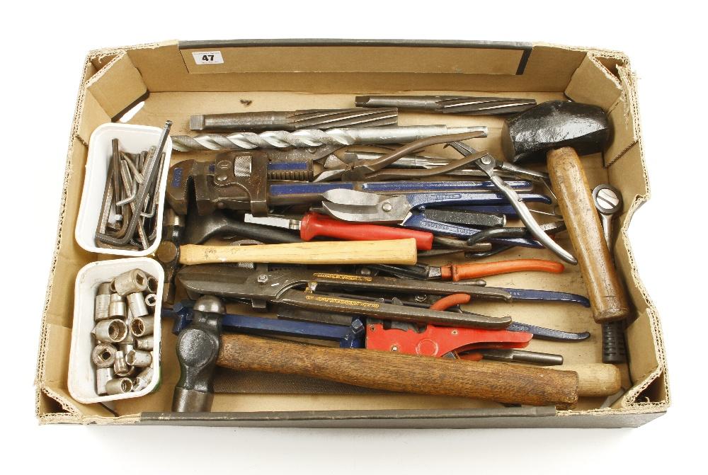 Lot 47 - A box of tools G