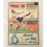 1932 FA Cup Final programme, Arsenal v Newcastle United,