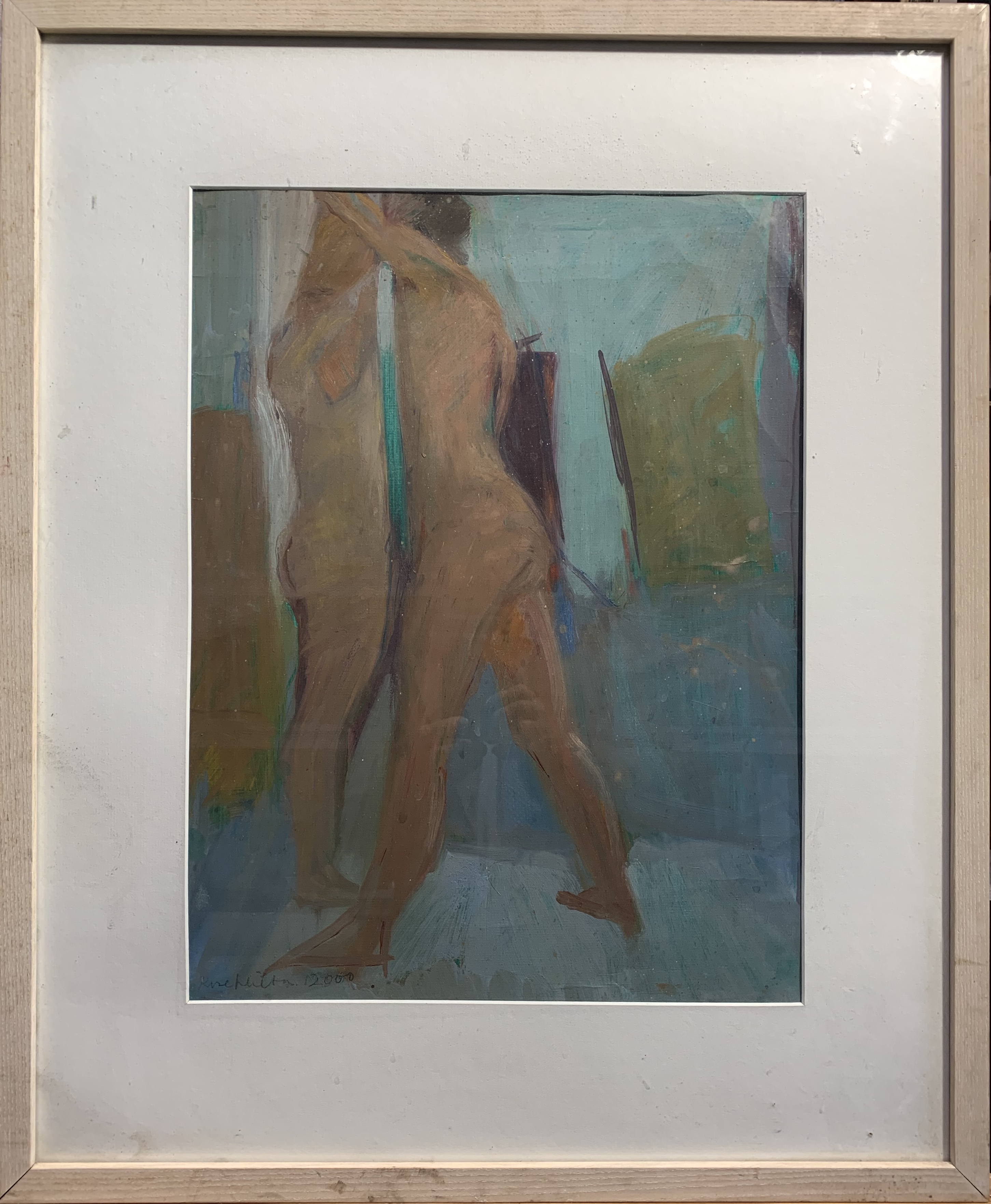 Rose HILTON (1931-2019) Standing Nudes Oil on canvas paper Signed and dated 2000 Studio seal to - Image 2 of 2
