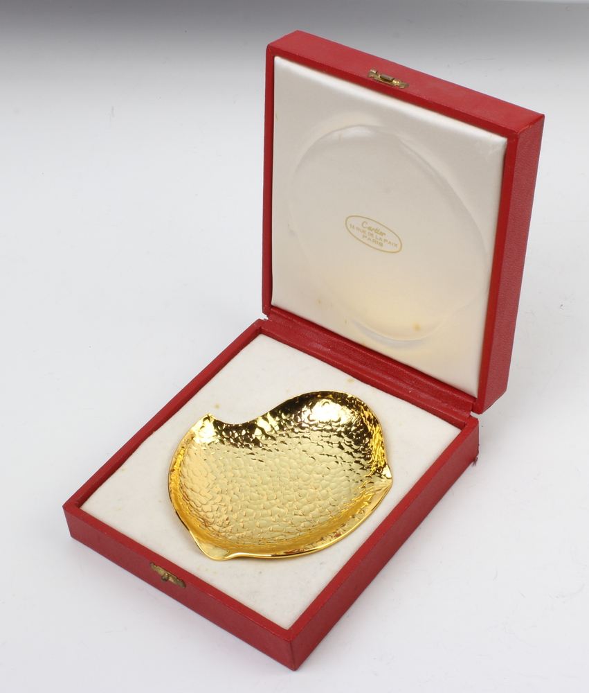 Lot 737 - A Cartier gilt trophy dish contained in a fitted box