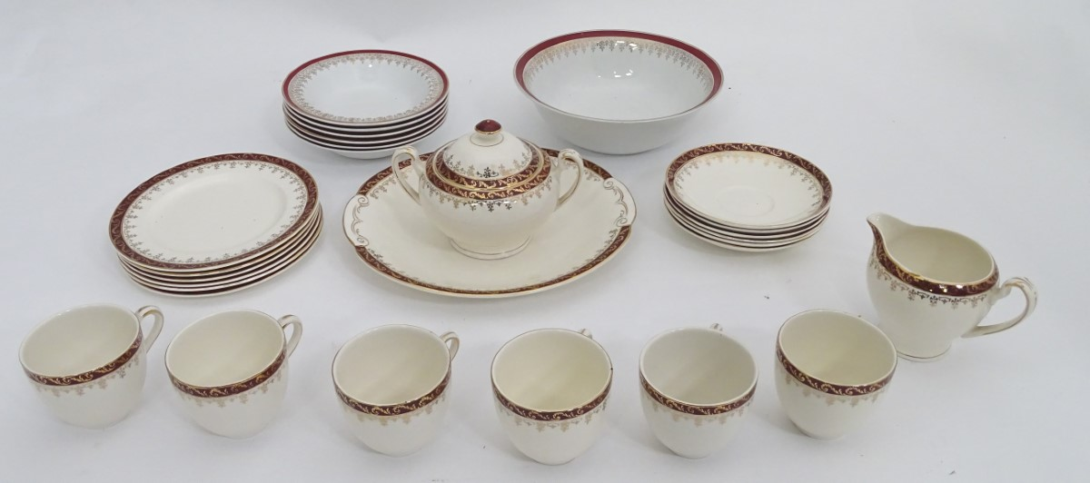 Lot 51 - 6 place Alfred Meaken dinner/tea service This lot is being sold for our nominated charity for the