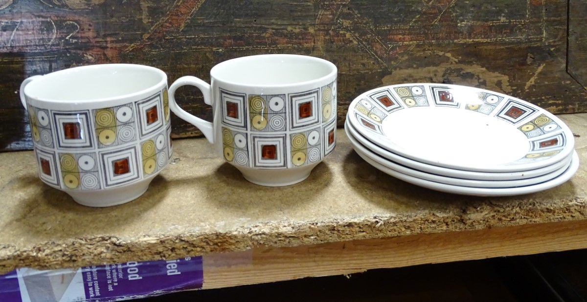 Lot 8 - Vintage Retro : a small collection of 'Rushstone , Ironstone ...