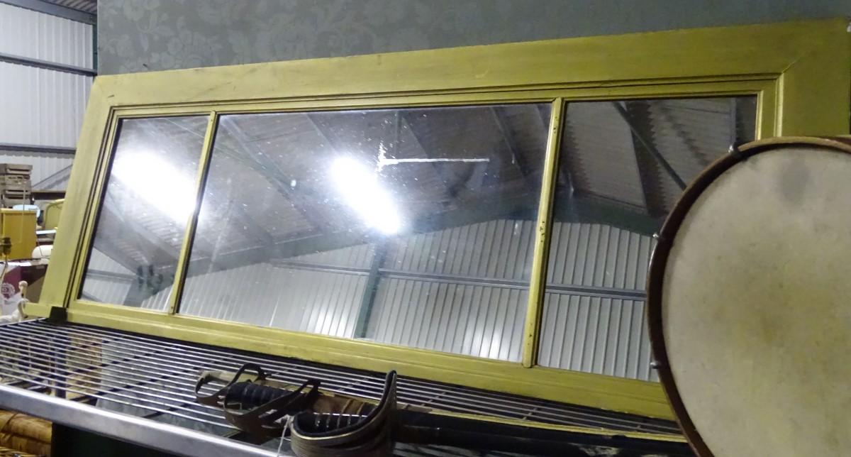 Lot 38 - A gilt over mantel mirror,