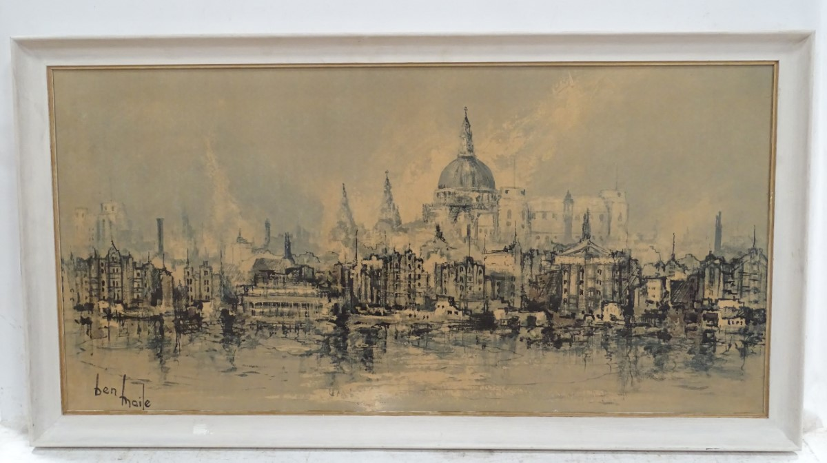 Lot 26 - A print of London after Ben Maile CONDITION: Please Note - we do not make reference