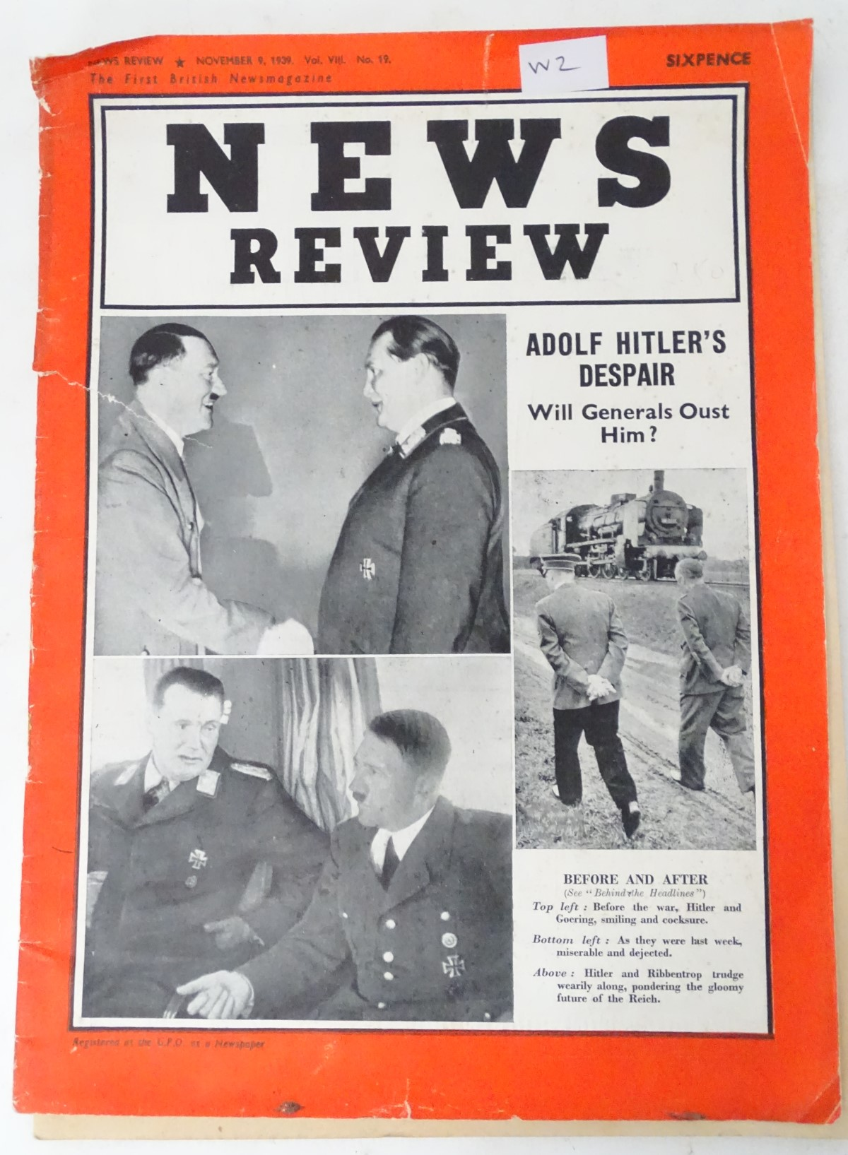 Lot 312 - A copy of the News Review magazine,