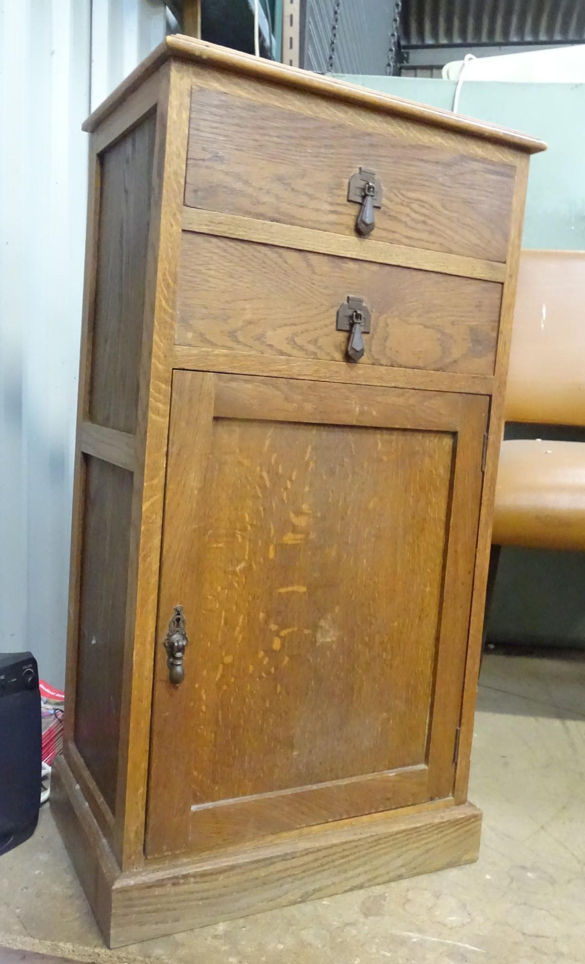 Lot 1 - An Art Deco pedestal cabinet by T A Matthews & Son Ltd.