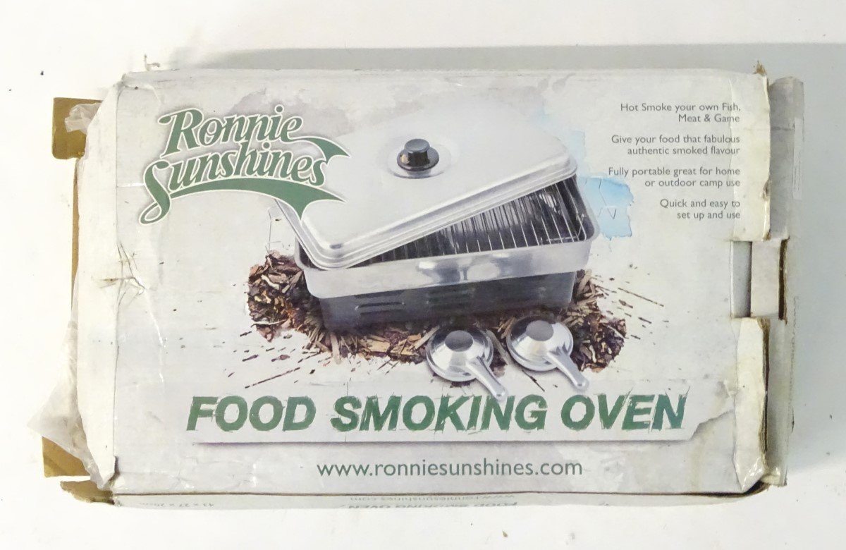 Lot 50 - A food smoking oven, Ronnie Sunshines Hot Smoker,