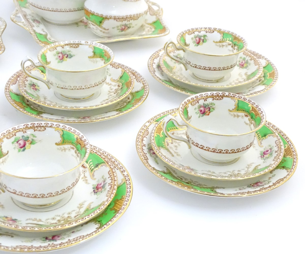 Lot 45 - A quantity of Fenton tea wares in the pattern Kenmare, to include cups and saucers, side plates,