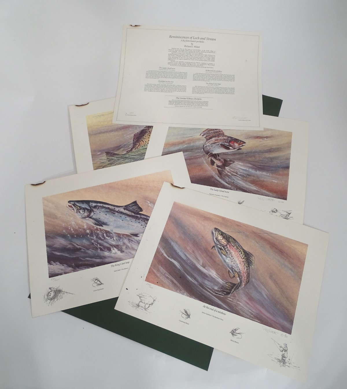 Lot 39 - After Richard J Willett, 1989, fly fishing, Signed Limited Edition Portfolio, 235/450,