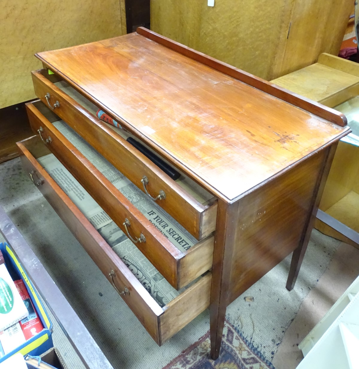 Lot 36 - A 3 drawer chest of drawers CONDITION: Please Note - we do not make reference to