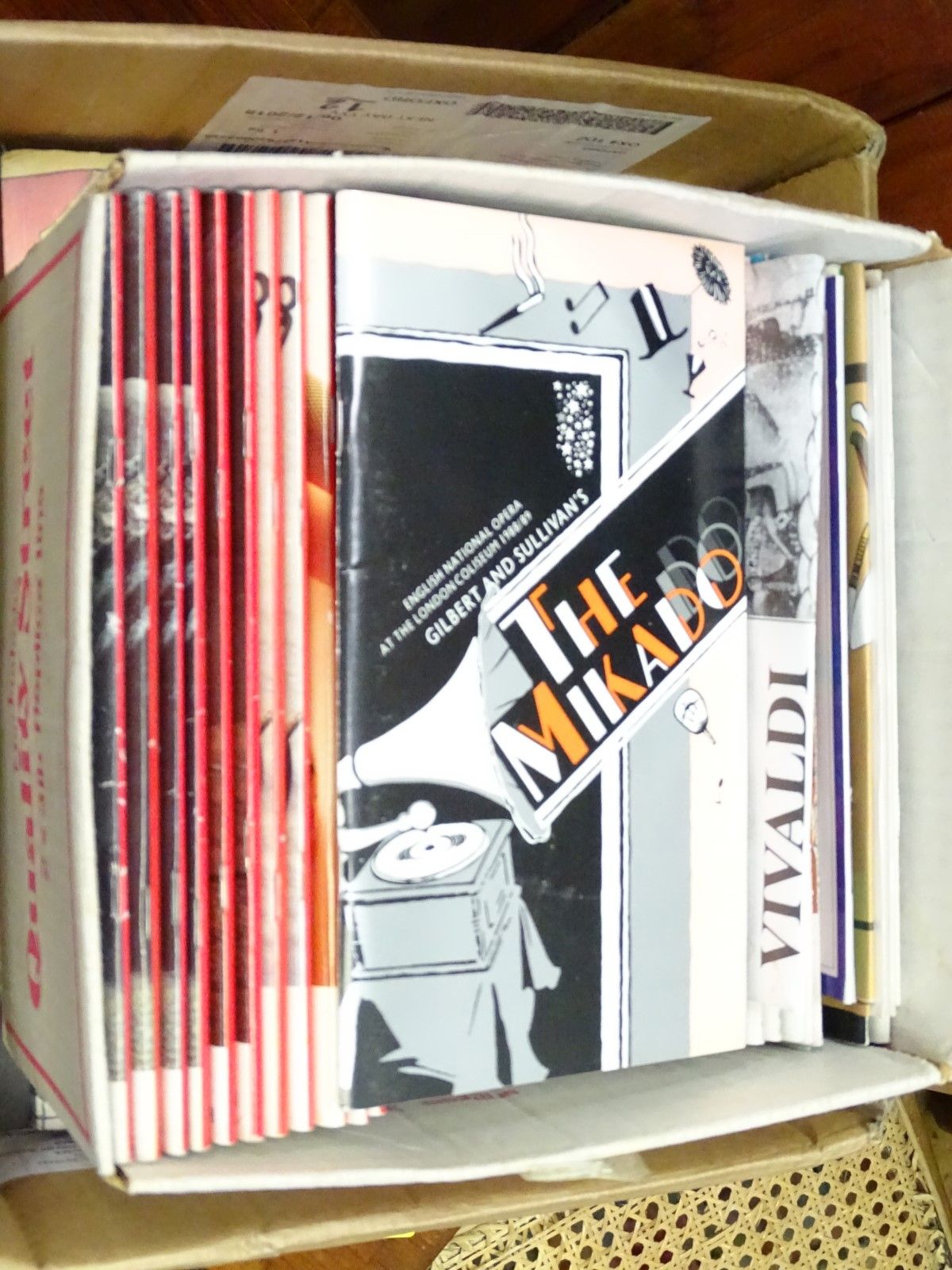 Lot 4 - Assorted opera programmes etc CONDITION: Please Note - we do not make reference to