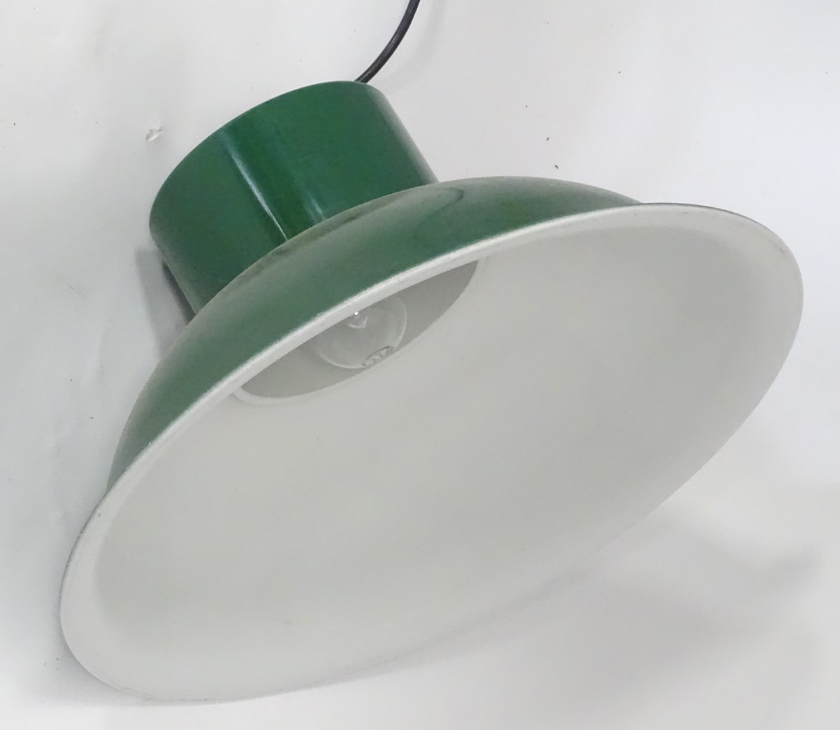Lot 42 - A vintage industrial style lampshade CONDITION: Please Note - we do not make