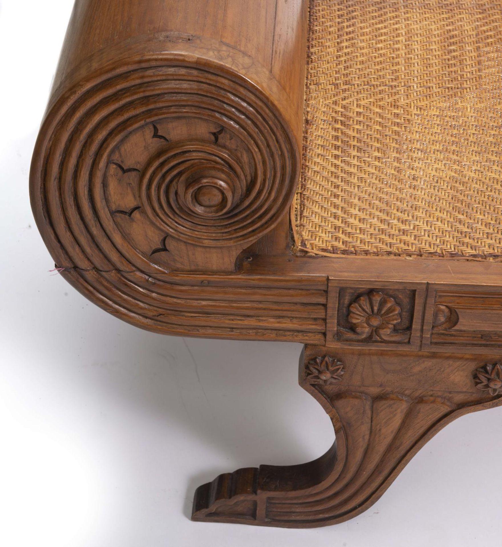 Deux fauteuils et une banquette balinais en Suar teck - Bild 5 aus 15