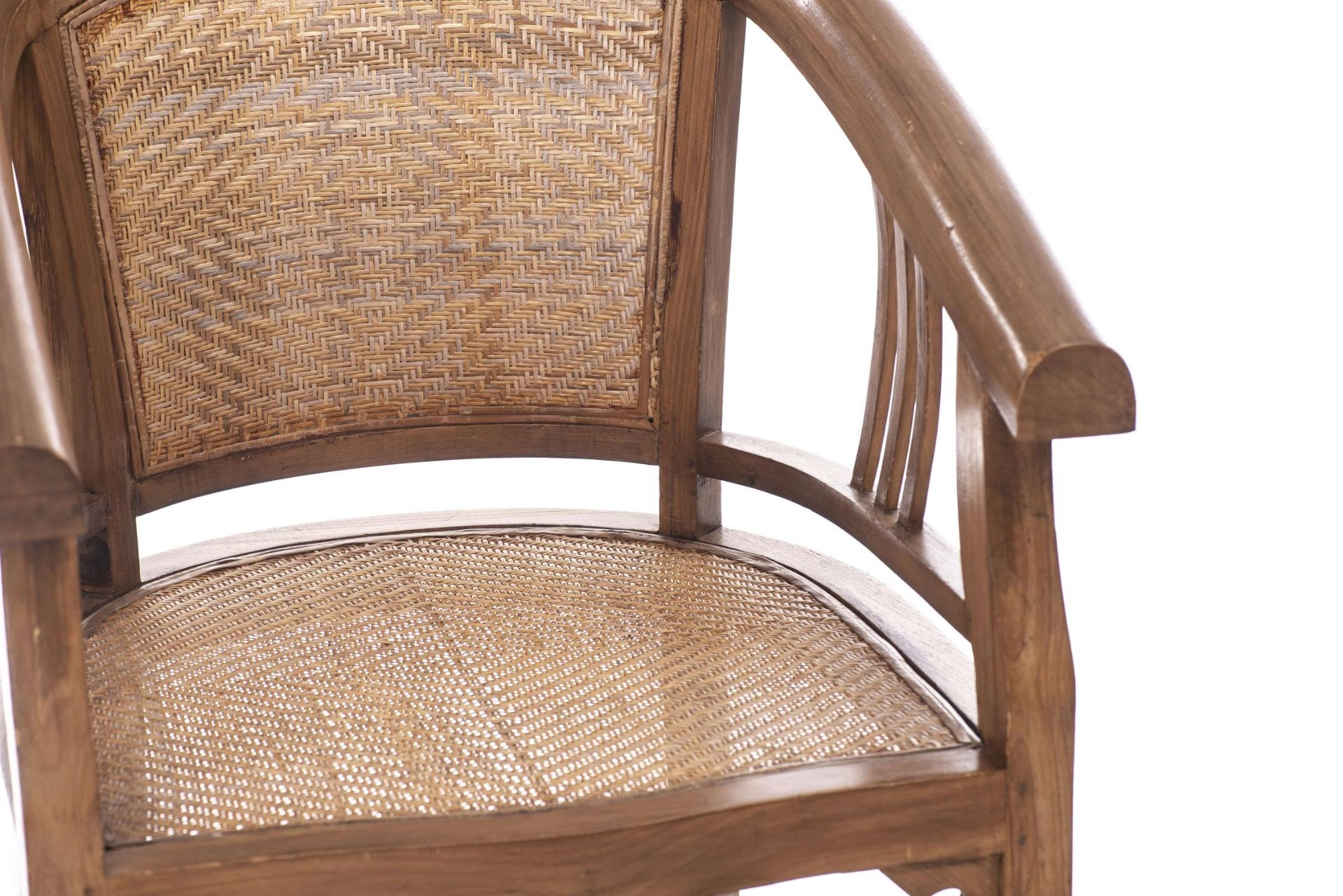 Deux fauteuils et une banquette balinais en Suar teck - Bild 14 aus 15