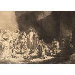 """Rembrandt Harmenszoon van Rijn (1606-1669) d'après, """" La pièce aux cent florins""""."""