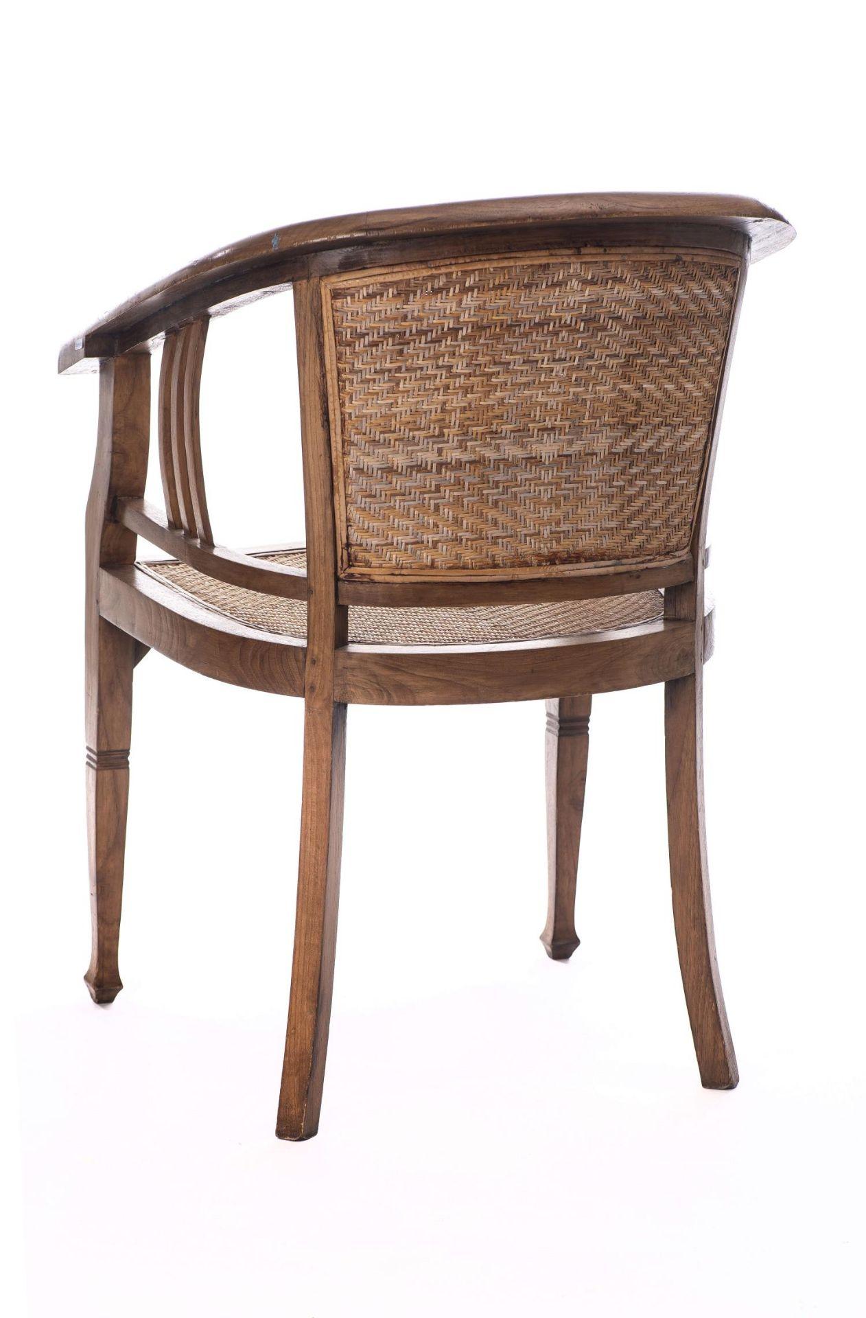 Deux fauteuils et une banquette balinais en Suar teck - Bild 11 aus 15