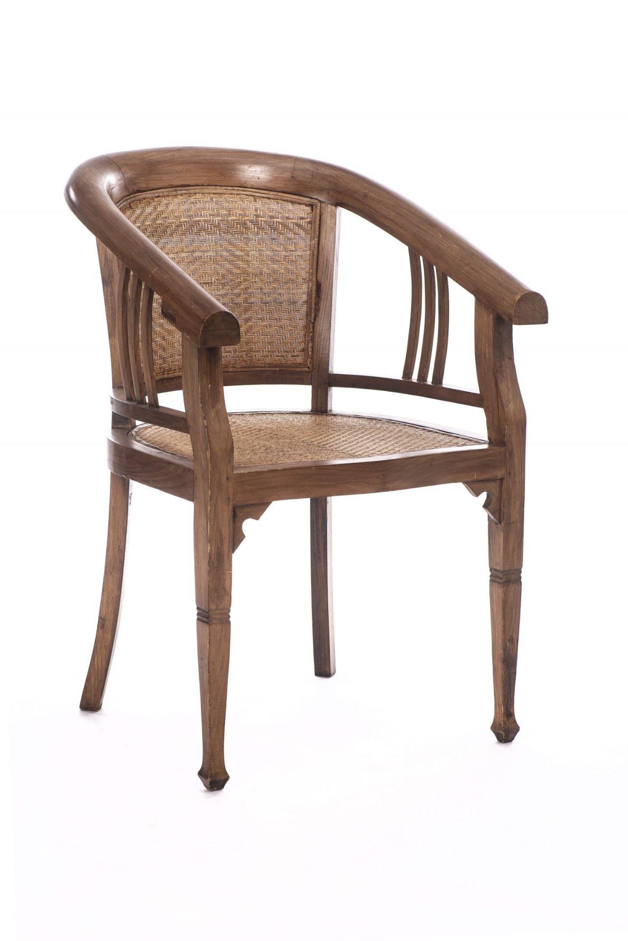 Deux fauteuils et une banquette balinais en Suar teck - Bild 10 aus 15